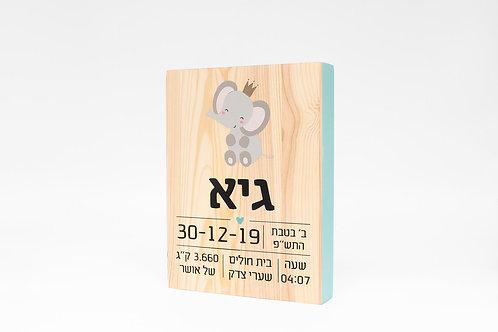 תעודת לידה מעץ- פיל
