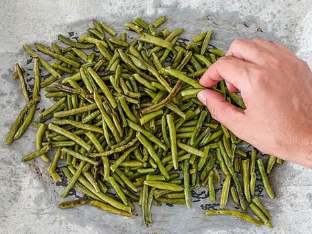 שעועית ירוקה בתנור