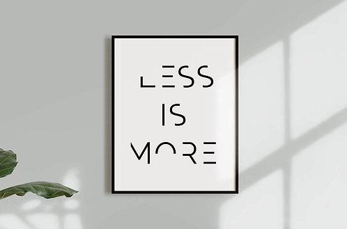 הדפס להורדה-Less is more