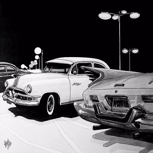 De Soto 1960 / Pontiac Chieftain 1951- 40x40cm