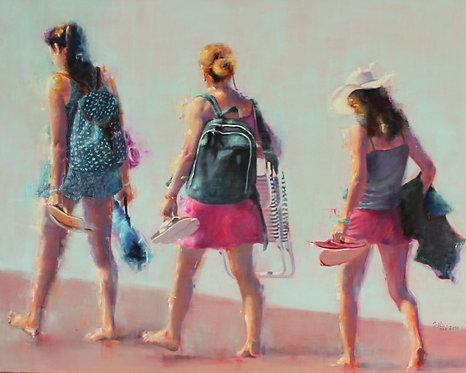 Maryline MERCIER : Les drôles de dames. Format 100x80cm