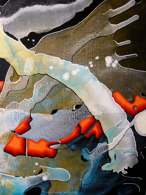 Bc. PIERRON  :  Soleil en eaux froides  - Hauteur 50 cm