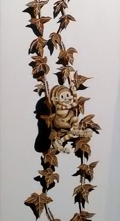 Troll au lierre #1  -  20 x 80 cm