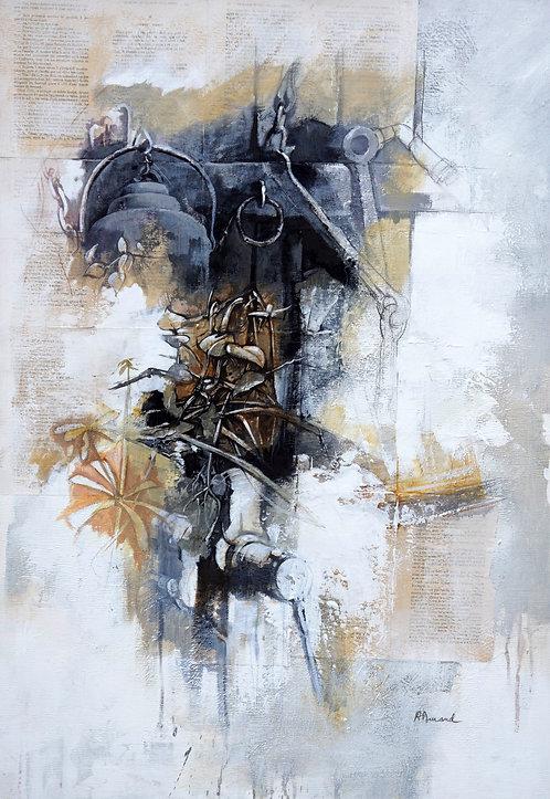 Mémoire d'atelier  -  80x110 cm