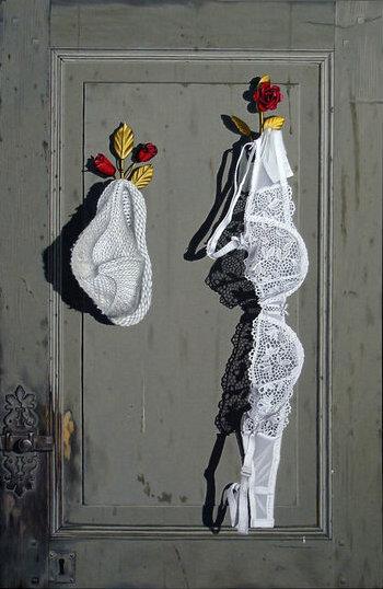 Bonnet blanc et blancs bonnets - 60x92 cm