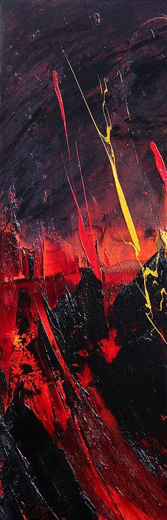 Jean SOYER : Sans titre,  Réf. R36.   30x90cm.