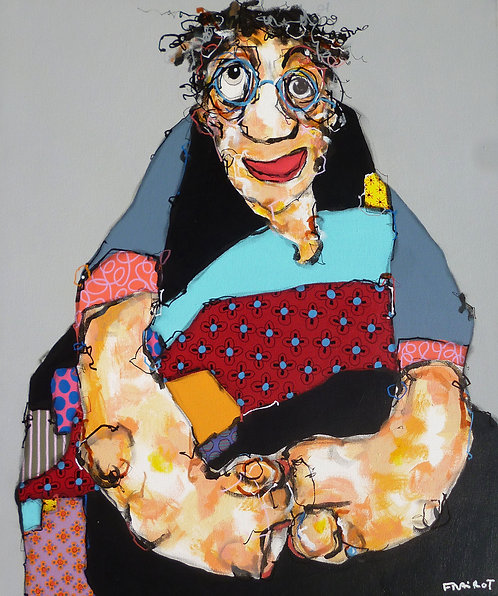 Maxime FRAIROT : Autoportrait un jour de juin - 54 x 65 cm