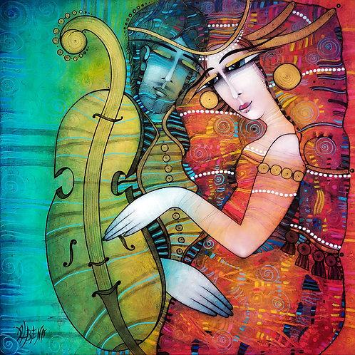 Violon d'Ingres  -  80x80 cm