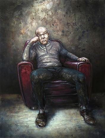 Sorte de penseure - 116 x 89 cm - huile sur toile - 2020.jpg