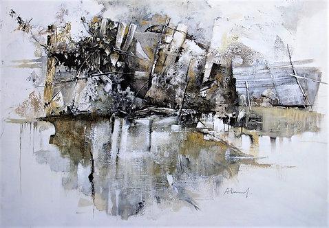Reflets  -  92x65 cm