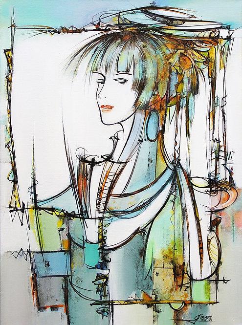 La dame du lac - 60x81 cm