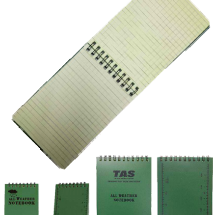 TAS - ALL WEATHER NOTEBOOK / NOTEPAD