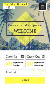 Accommodation website templates – Rio Pousada
