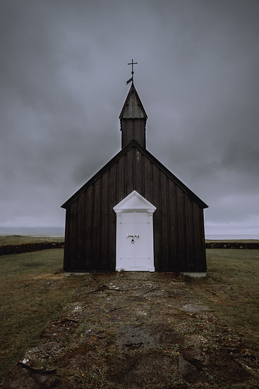 'Black Church - Front' Print