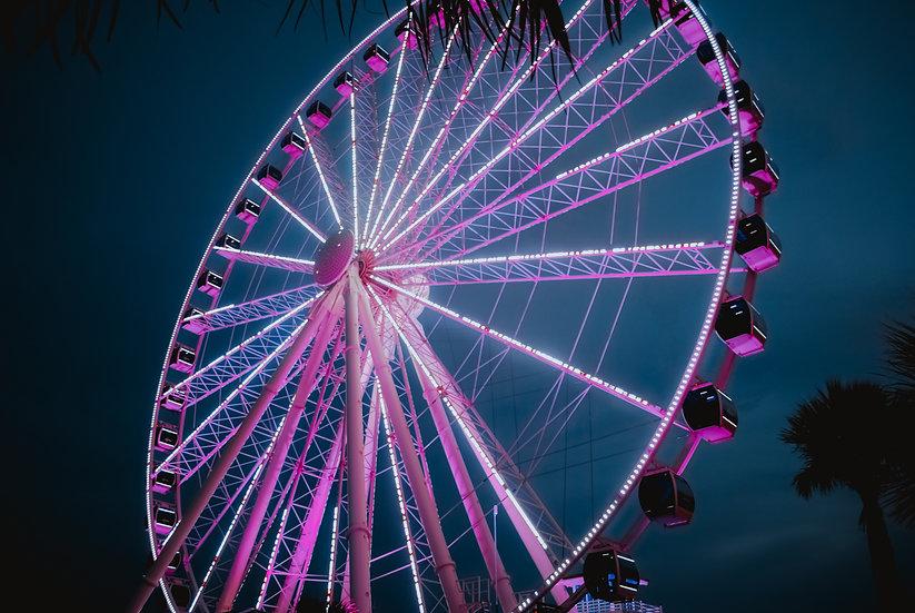 'Ferris Wheel - Pink' Print