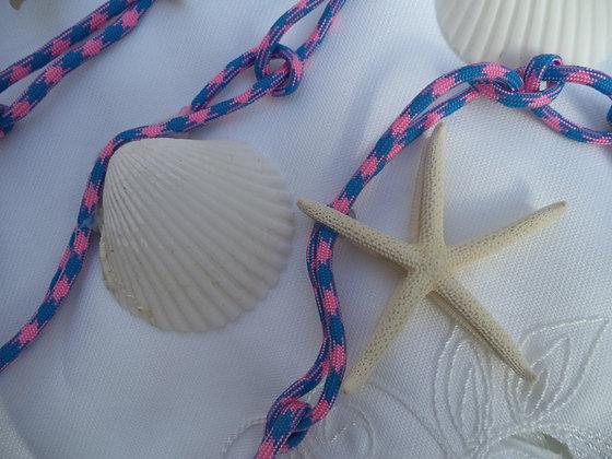 Pink & Blue Nautical Shell Garland -