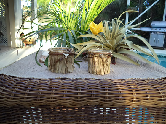 Tiki Bar Tea Lights - Fun for any outdoor bar! (3)