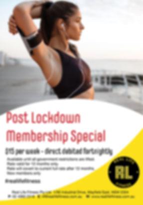 Post Lockdown Membership Special June 20