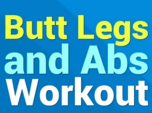 Butt, Legs & Abs 30 Minute Video #1