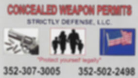 Strictly Defense - Concealed Weapon Classes