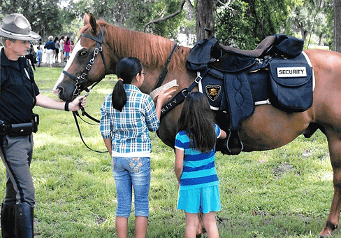 Mounted security officer, security guard, patrol service, Bushell, Sumter County, Florida www.midstateagency.com