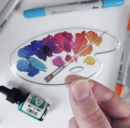 Sky Palette - Transparent Vinyl Sticker