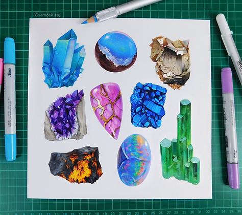 Gemstones - Original Artwork