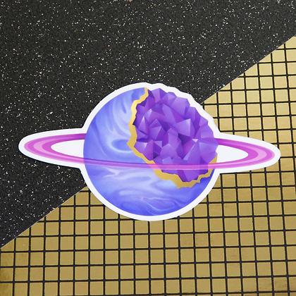 Geode Planet - Metallic Gold Vinyl Sticker