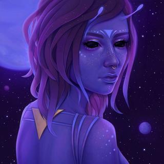 Alien Princess - Digital Portrait Commission