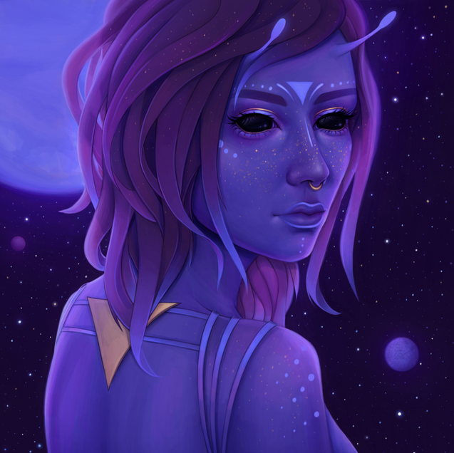 Alien Princess - Digital Portrait Commission