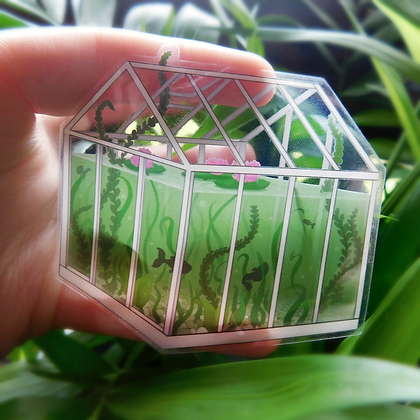Little Greenhouse - Transparent Vinyl Sticker