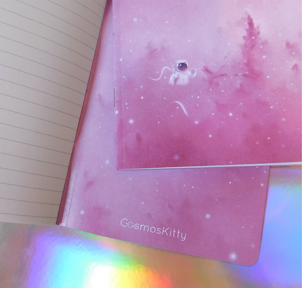 Cosmic Candyfloss - A6 Notebook