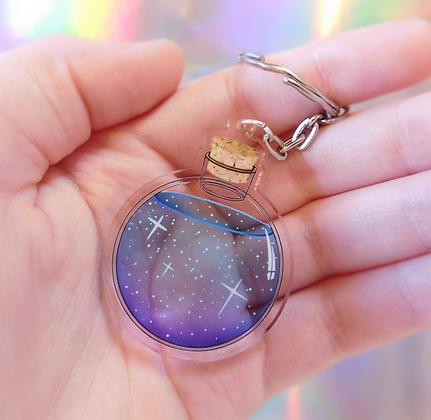 Jar of Stars - Transparent Keyring Charm