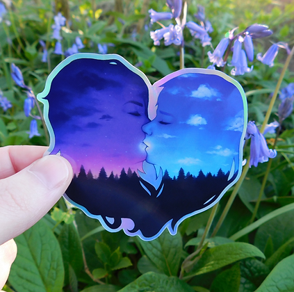 Evening Kiss - Holographic Vinyl Sticker