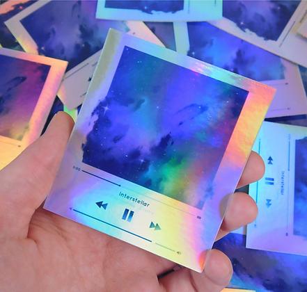 Cosmix - Holographic Vinyl Sticker