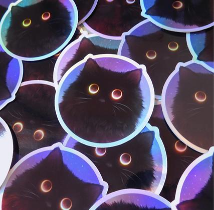 Eclipse Kitty - Holographic Vinyl Sticker
