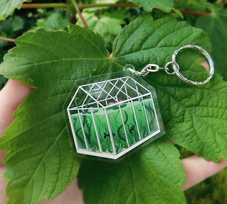 Little Greenhouse - Transparent Keyring Charm