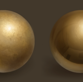 Gold Orbs - Material Study