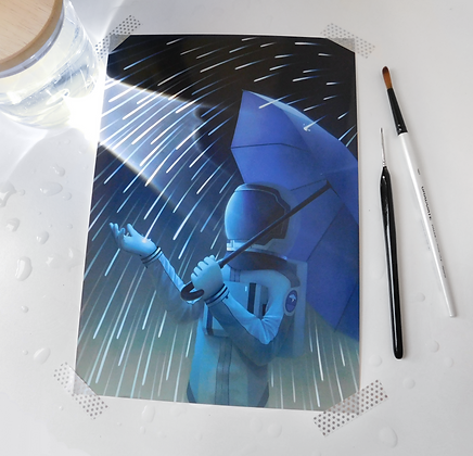 """A4 Glossy Print of """"Downpour"""""""