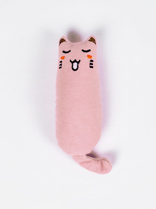 Moody Cat Catnip Toy - Blushing Boo