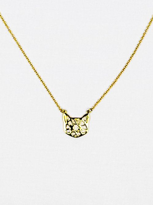 Geometric Cat Necklace front view