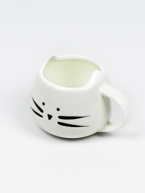 Cuddle Me Cat Mug - White Cat side view