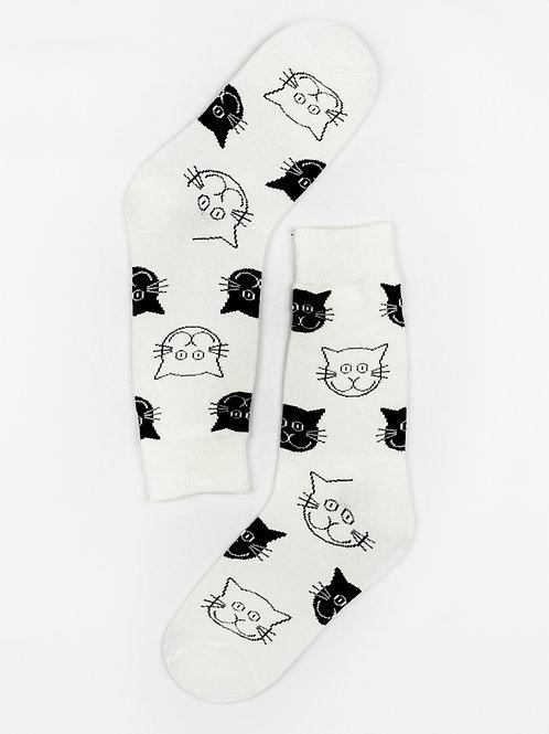 Classic Cat Face Crew Socks