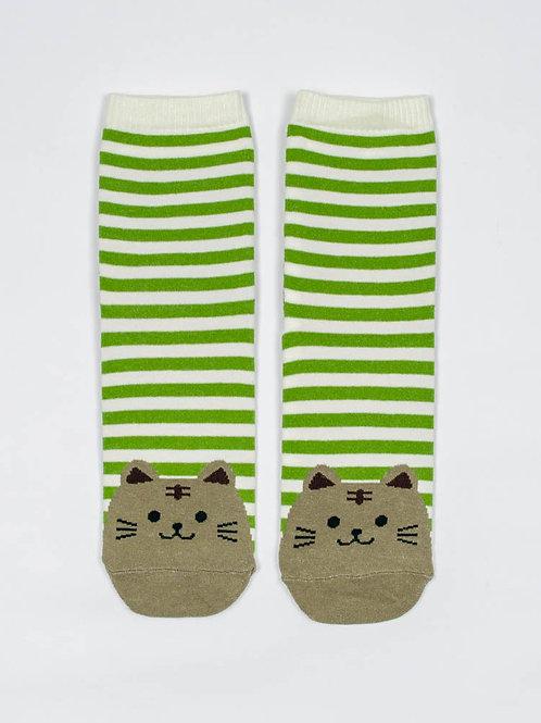 Fat Cat Socks - Global Green