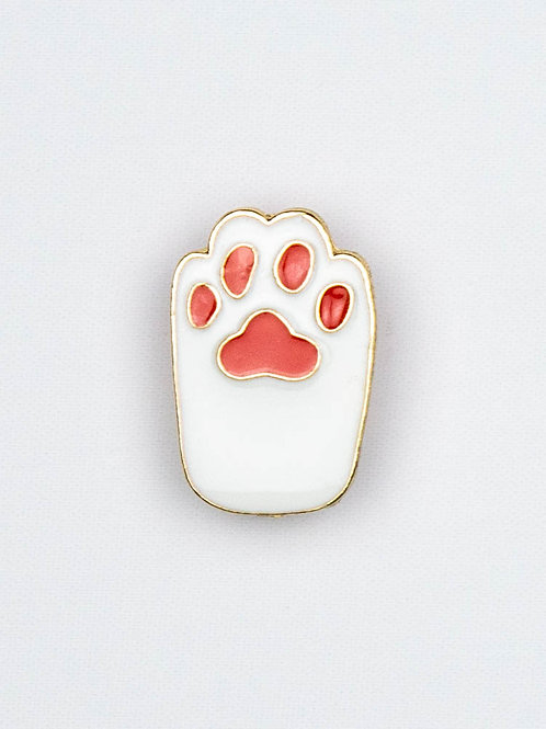 Paws Up Enamel Pin (Casper)
