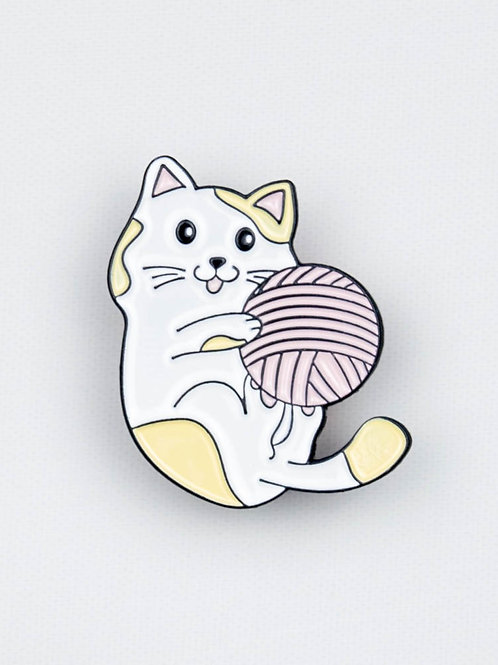 Tummy Up Yarn Ball Enamel Pin