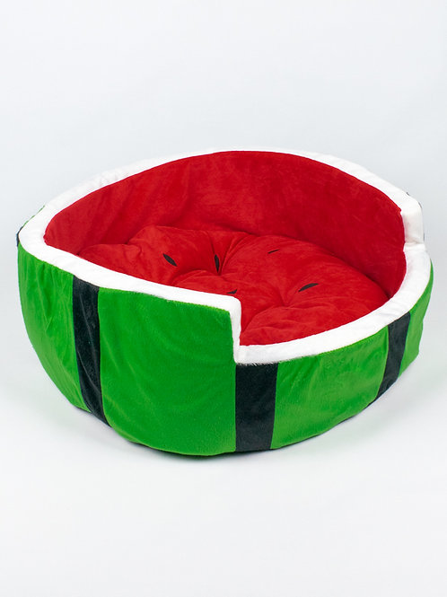 Watermelon Cat Bed side view