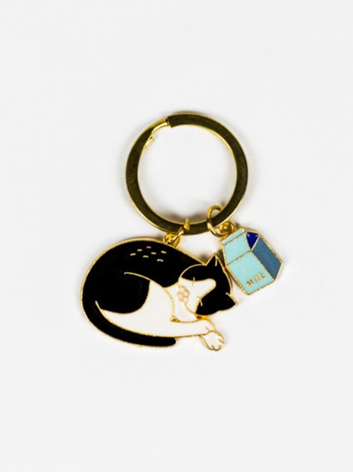 Cat Got the Cream Keychain