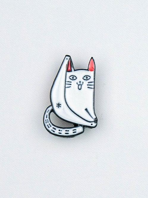 Cat Bum Enamel Pin