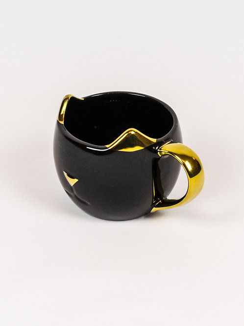 Black and Gold Cat Ears Mug side view